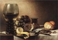 Still Life With Oysters by Pieter Claesz