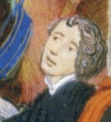 Man with chin length curly hair, 1389