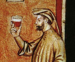 Man wearing a chaperon, Italy, late 1300's