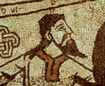 Long haired man with pointy beard, c. 1040