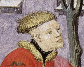 Bowl haircut with shaved neck, c 1413