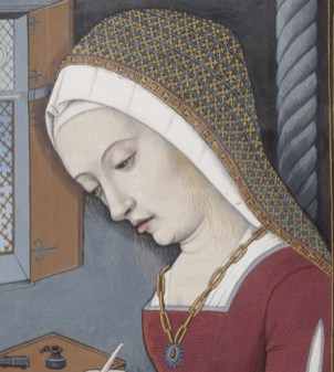 Highly detailed veil over a coif or something like that, 1497