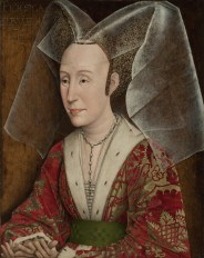 Isabella of Portugal, Duchess of Burgundy in a divided hennin. Copy of original of 1445–50.