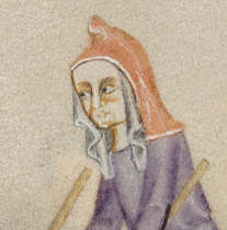 Woman in a hood and veil, 1325-1340