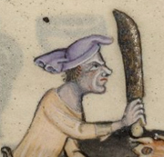 Cook in a chaperon, c. 1325-1340