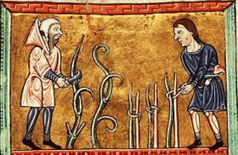 Two peasants c. 1180