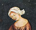 Cloth wrapped around the head, late 1300's