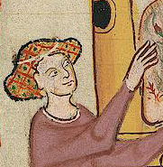 Hair up in a crespine, c. 1300 - 1340