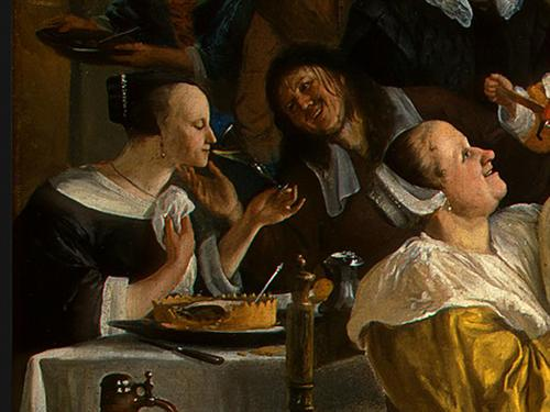 """Dancing Couple"" (Detail) by Jan Steen, 1663"