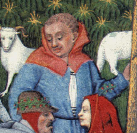 Peasant in a chaperon hood late 1400's