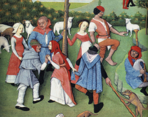 Dancing peasants 1400's