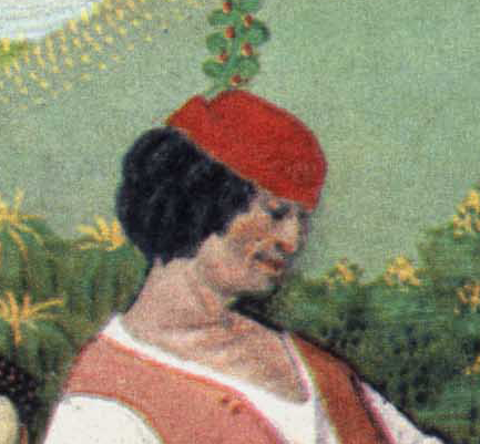 Little red hat with an upturned edge. late 1400's