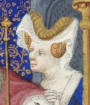 Bourrelet and hairnet, c. 1410-1430
