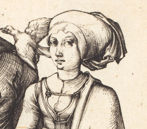The wife of a cook with an unusual large head style, c. 1496