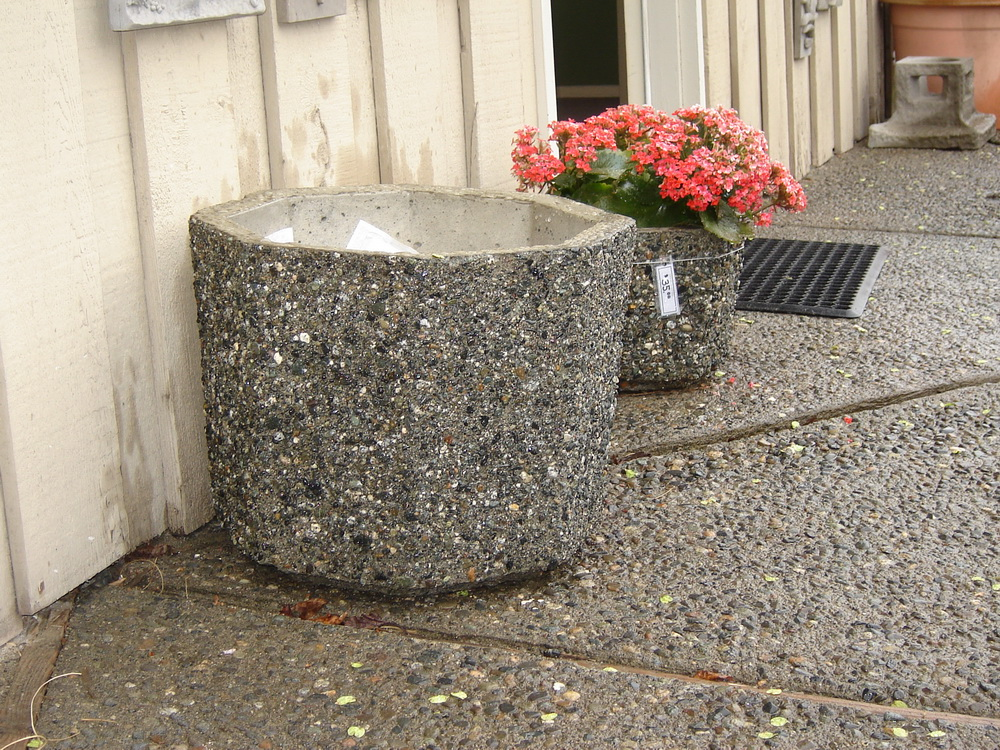 Round Planter  Exposed Aggregate Concrete  Mackay