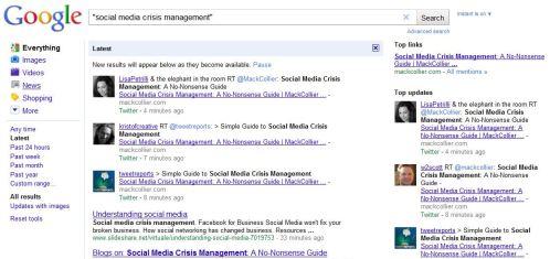 Social Media Crisis Management, Twitter