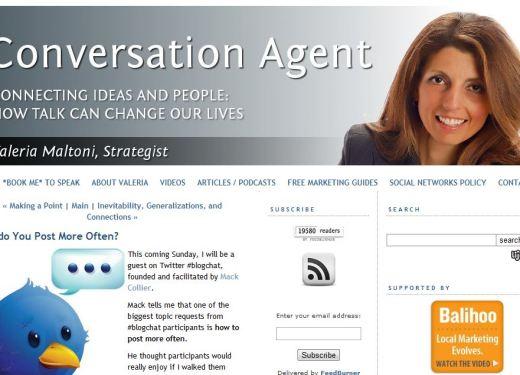 Valeria Maltoni, Conversation Agent, Posting more often, Blogging as a Subject Matter Expert