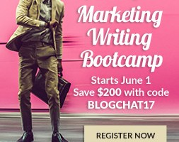 Marketing Writing Bootcamp is #Blogchat's Sponsor For May and June!