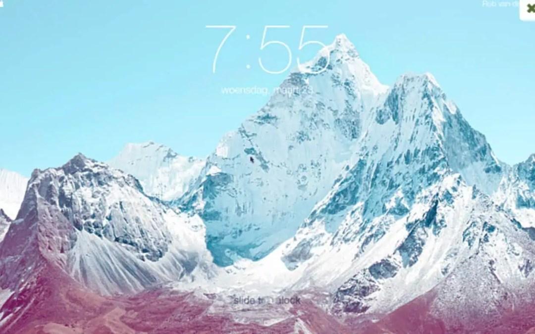 iOS låsskärm som skärmsläckare i din Mac