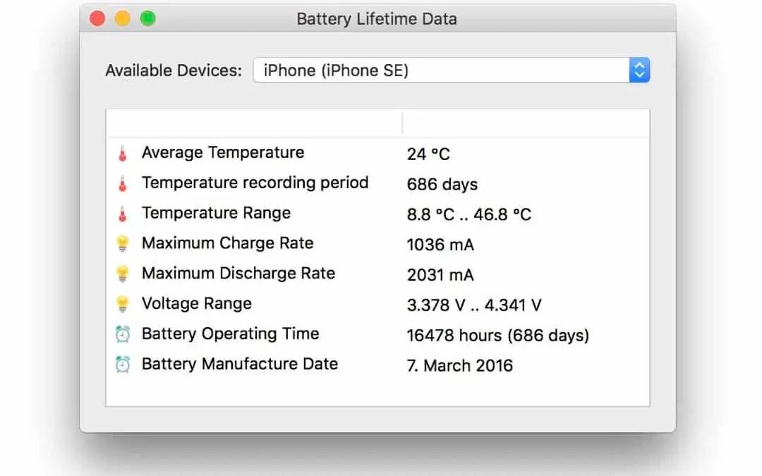 coconutBattery- Hur mår ditt batteri?