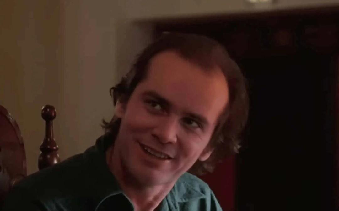 Se Jim Carrey som Jack Nicholson i The Shining