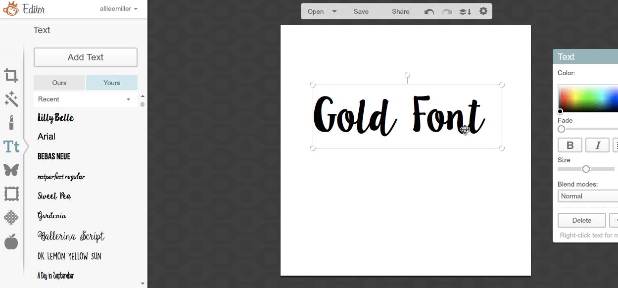 free gold font – Mackenzie Kendall