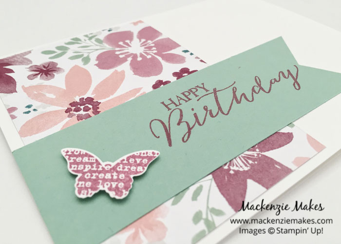 One Sheet Wonder Card Set with Blooms & Bliss DSP – Create 8 cards using 1 sheet of paper from the Blooms and Bliss Designer Series Paper pack. | #mackenziemakes #makewithme #stampinup | www.mackenziemakes.com