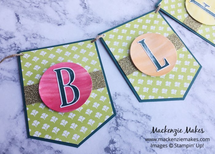 Blessed Banner – Click through to learn how to make a banner inspired by St. Patrick's Day. | #mackenziemakes #makewithme #stampinup | www.mackenziemakes.com