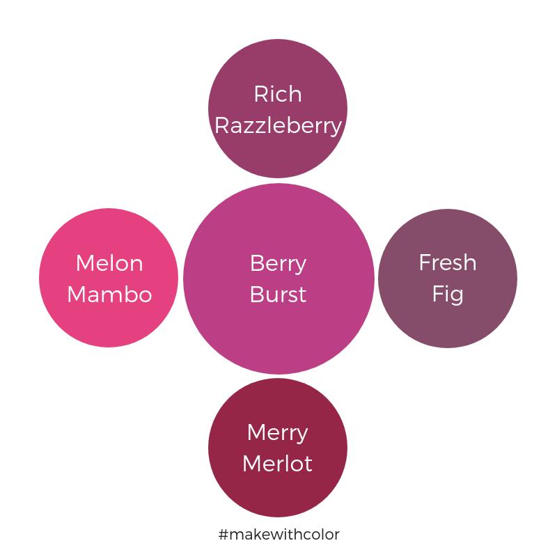 Color Comparison Berry Burst