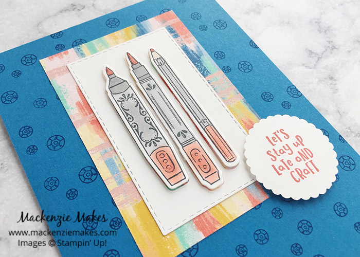 Team Swap Cards - Swap #1 – Click through to see how to make this fun card featuring the Follow Your Art Suite from Stampin' Up! | #mackenziemakes #stampinup | www.mackenziemakes.com