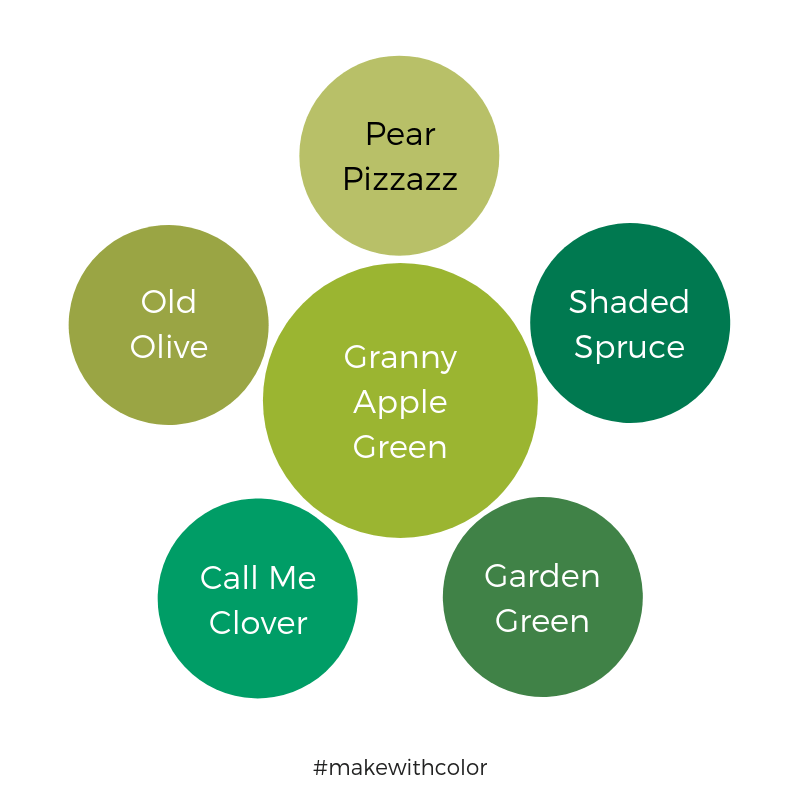 Color Comparison Granny Apple Green