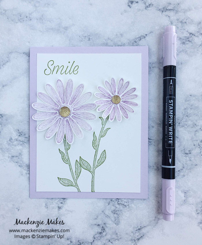 2019-2021 In Color Daisy Lane Cards – Click through to see the 2019-2021 In Colors featuring the new Daisy Lane Bundle. | #mackenziemakes #stampinup | www.mackenziemakes.com