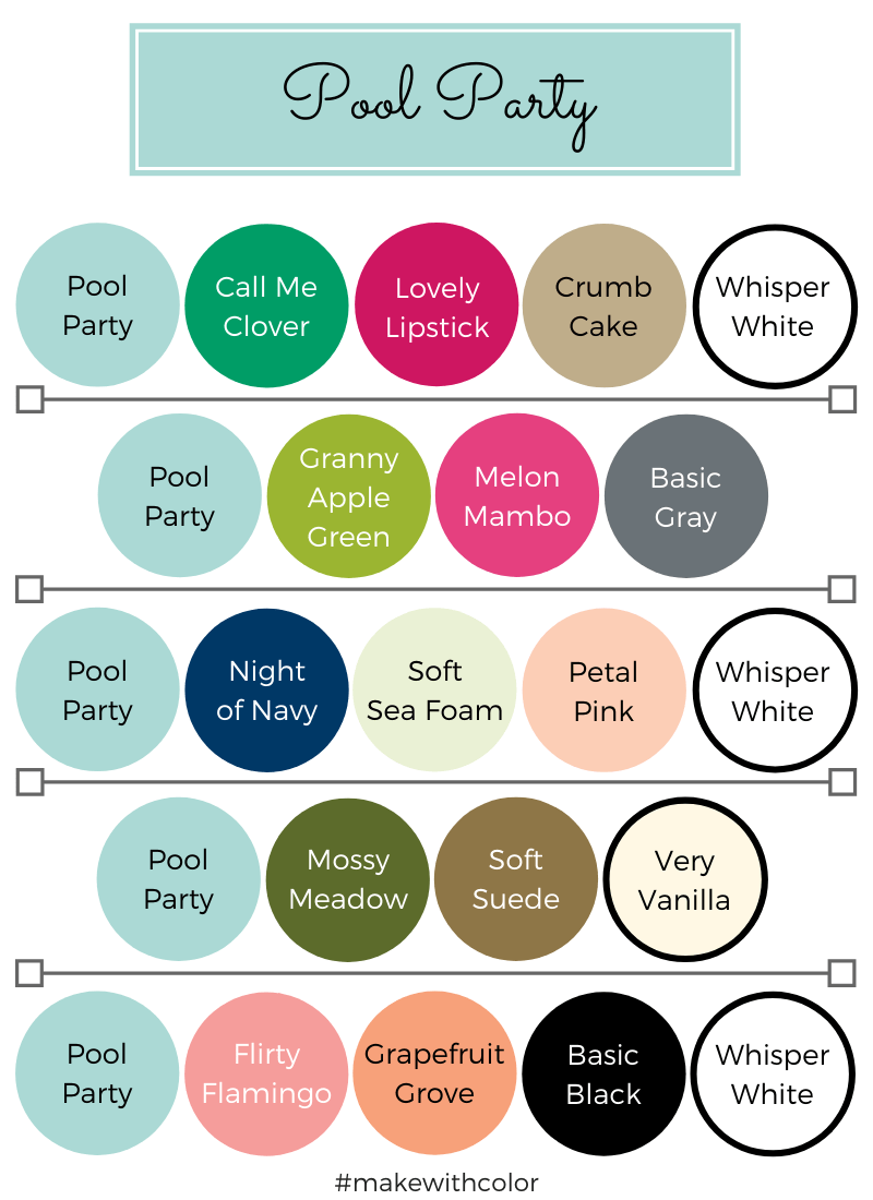 Color Combos Pool Party