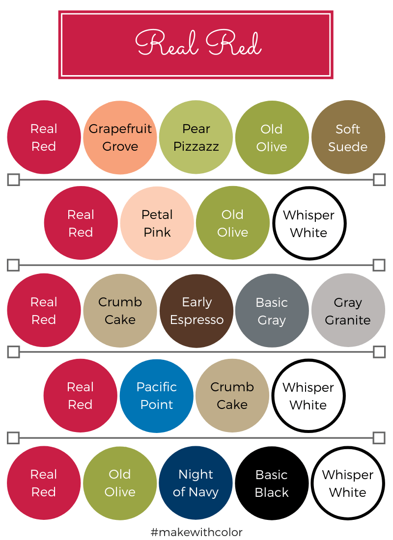 Color Combos Real Red