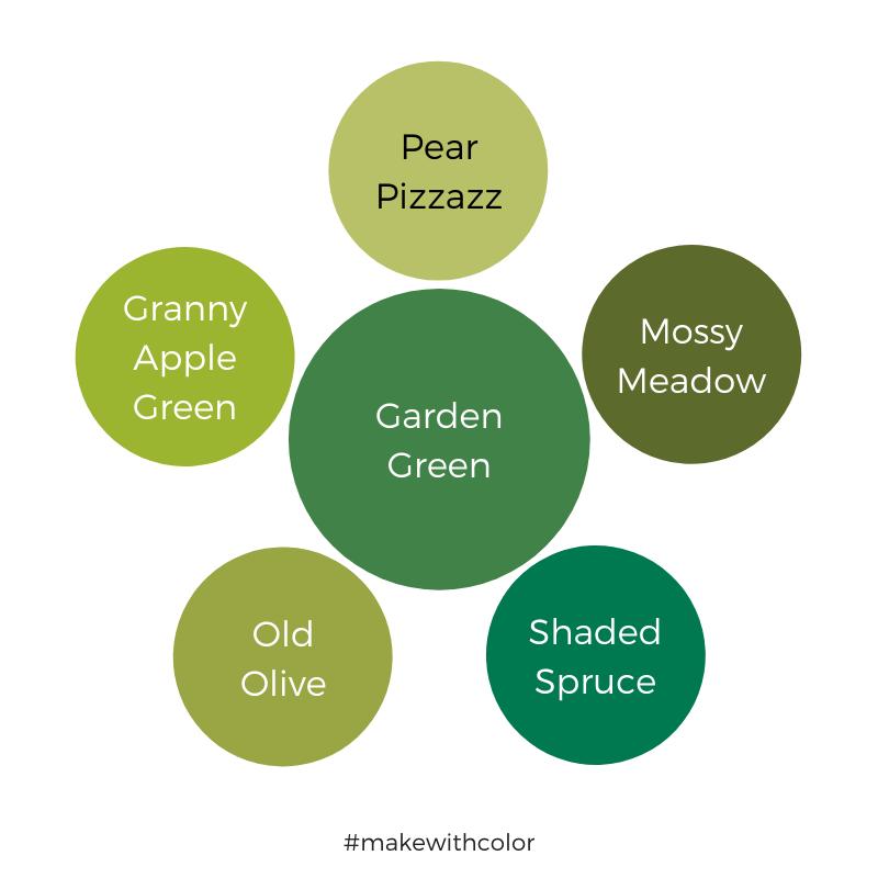 Color Comparison Garden Green