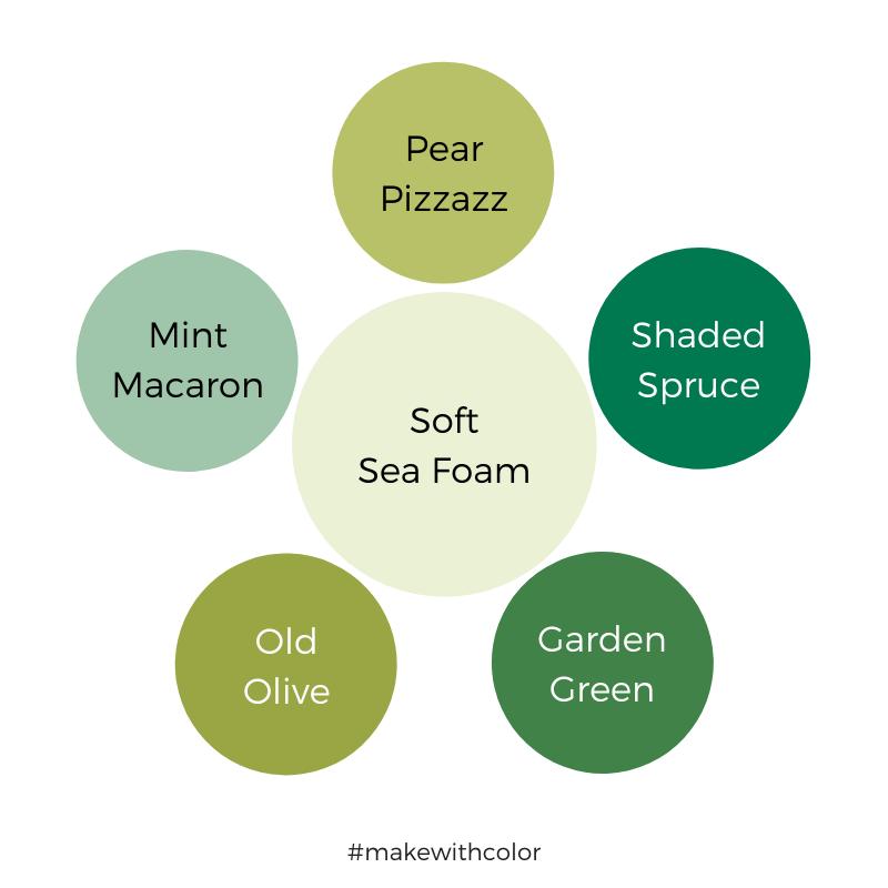 Color Comparison Soft Sea Foam