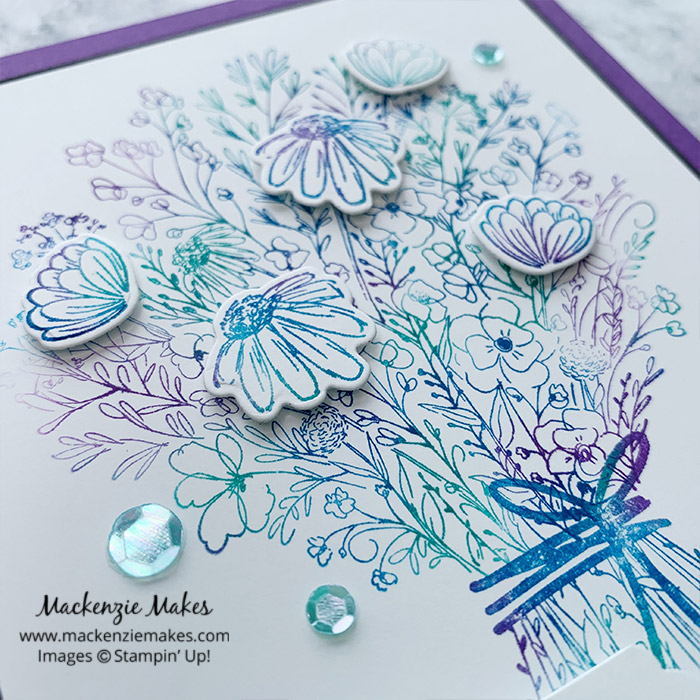 July 2020 Technique Blog Hop - Baby Wipe Technique – Click through to learn how to make a card using the baby wipe technique.   #mackenziemakes #stampinup   www.mackenziemakes.com