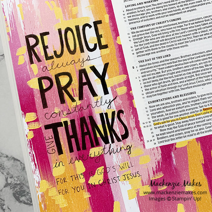 Bible Journaling - Making a DSP Background – Click through to learn how to make a Designer Series Paper background for your Bible journaling pages. | #mackenziemakes #stampinup | www.mackenziemakes.com