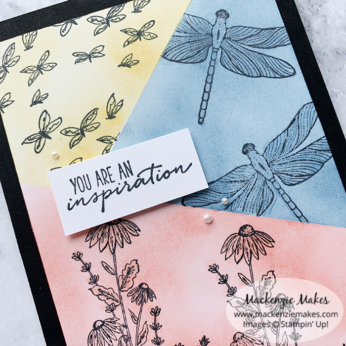 March 2021 Technique Blog Hop - Masked Grid – Click through to learn how to make a card featuring the Masked Grid technique.   #mackenziemakes #stampinup   www.mackenziemakes.com