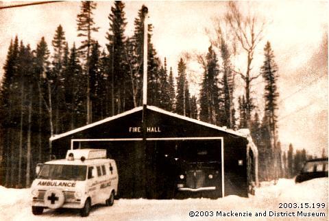 Mackenzie's first fire hall, 1967