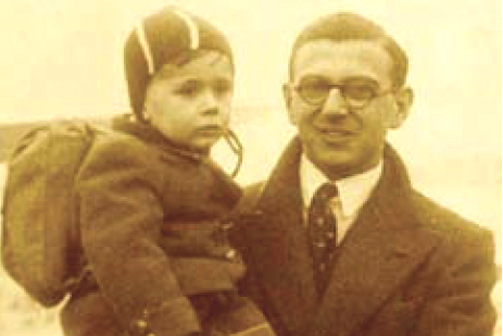 Nicholas Winton holding boy