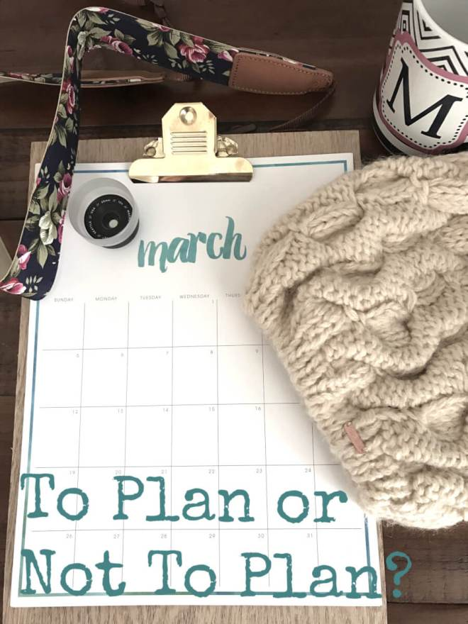 To plan or not to plan
