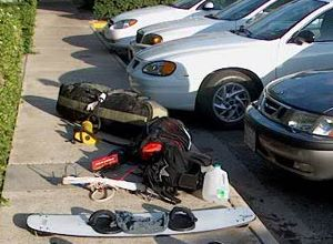 Packing up your kiteboarding equipment for vacation