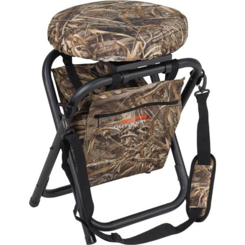 big and tall hunting chairs light brown leather chair duck stools for the blind field marsh alps horizon swivel stool realtree max 5
