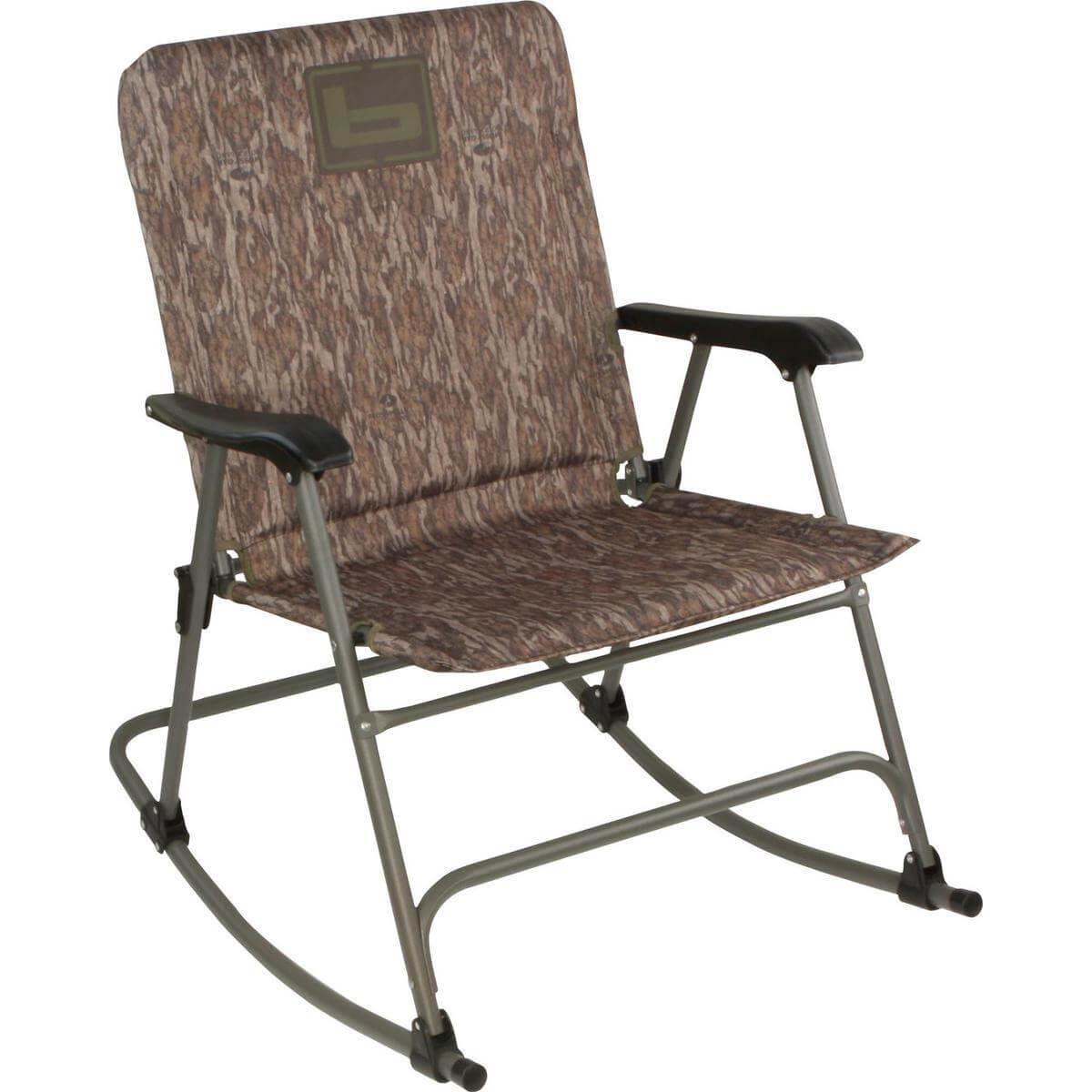 duck hunting chair grey leather dining chairs uk banded swivel blind rocking folding