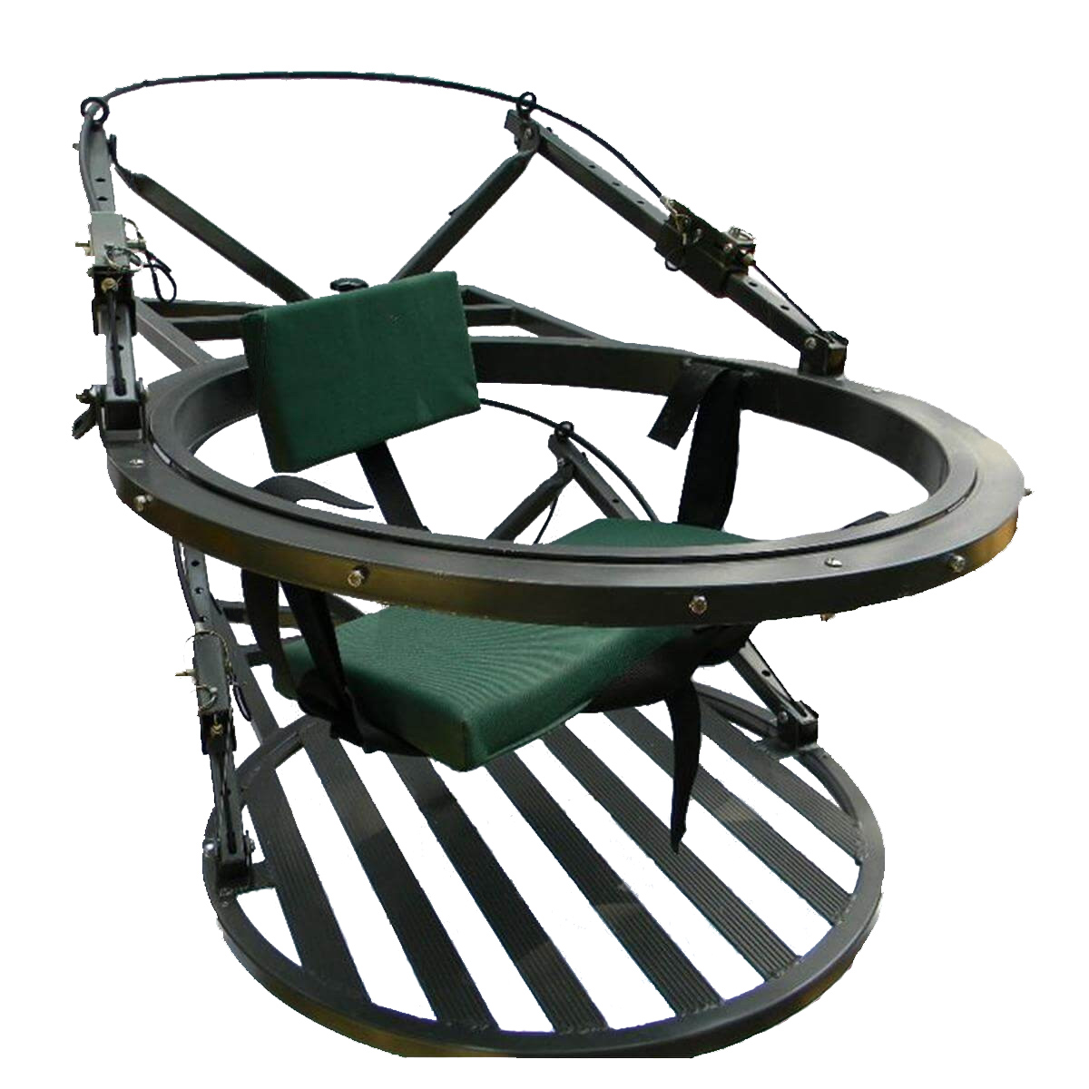swivel chair tree stand game rocker mancini 360 degree revolving climbing treestand