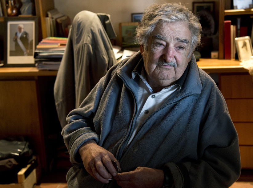 Uruguayan President Jose Mujica gestures during an interview at his house in Montevideo on June 25, 2013. (Mario Goldman/AFP/Getty Images)
