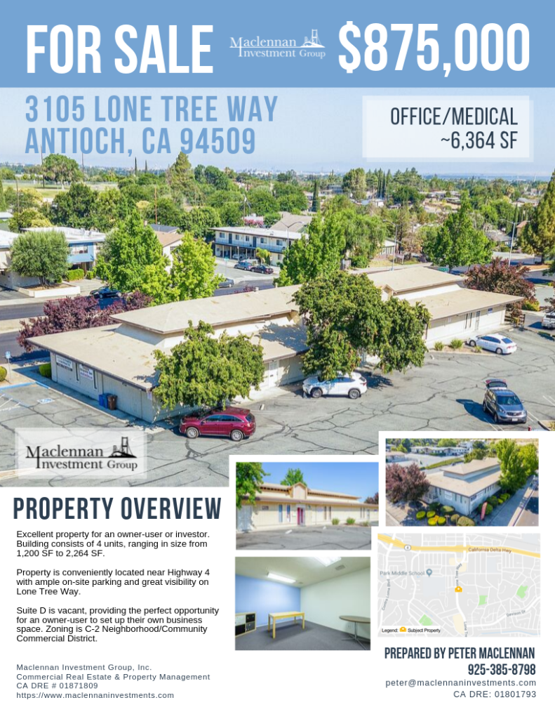 3105 Lone Tree Way One Page Flyer