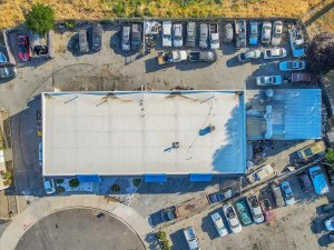 aerial view of commercial real estate in antioch
