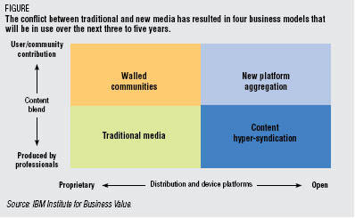 Chart from IBM study 'Navigating the Media Divide'